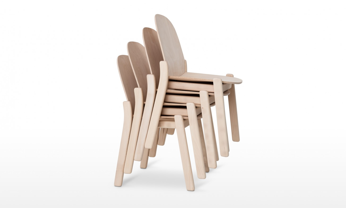 NORDIC wooden chairs_stack